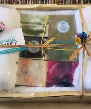 The 6 Mystique Pattern & Towel Combo, Happiness Gift Hamper